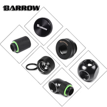 BARROW Black Version Metal Fitting Computer Connector use for Water Cooling System Extend 45-90 Angle Cable Adapter P