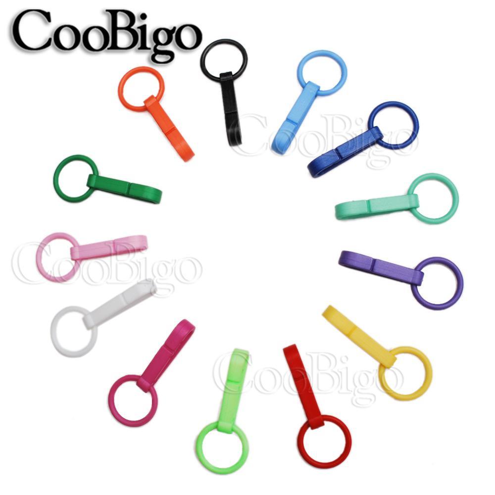 100 шт Упаковка Пластиковые Красочные защелки крюк перчатки пряжки-Крючки с уплотнительным кольцом звено цепи вешалка сумка Запчасти Аксессуары# FLC078(Mix-s