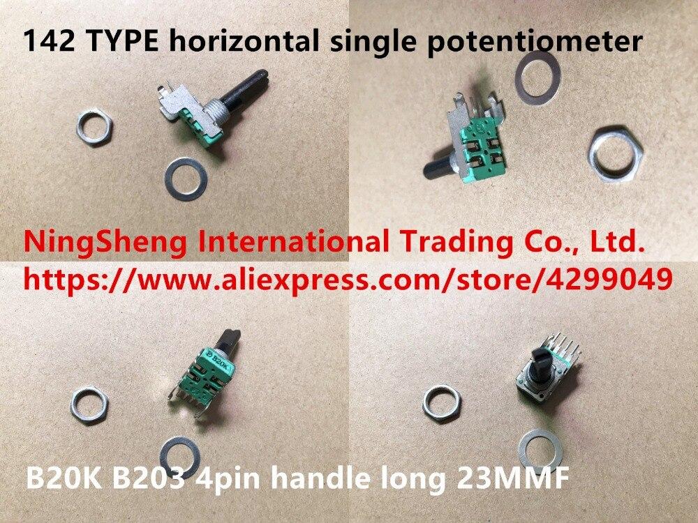 Оригинальный новый 100% импортный F 142 типа горизонтальный флуоресцентный B20K B203 4-контактная ручка длиной 23 мм (переключатель)