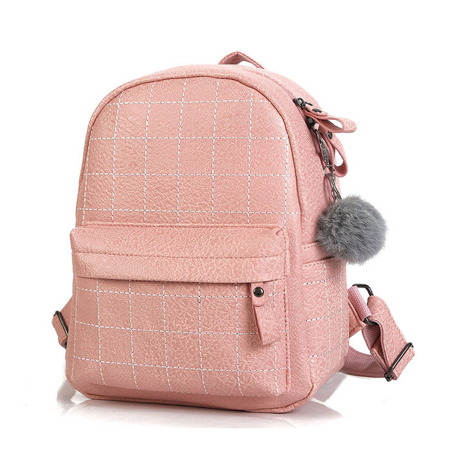 2018 New Women Backpack School Bag Fashion PU Leather Cute Small Backpack  High Quality Female Backpacks 3d99c5e3fc939