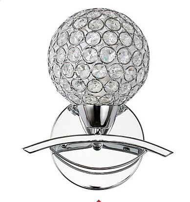 Spherical Gold and silver Wall Light Lamp Stainless Wall Light Lamp Stainless And Crystal 110v 220v