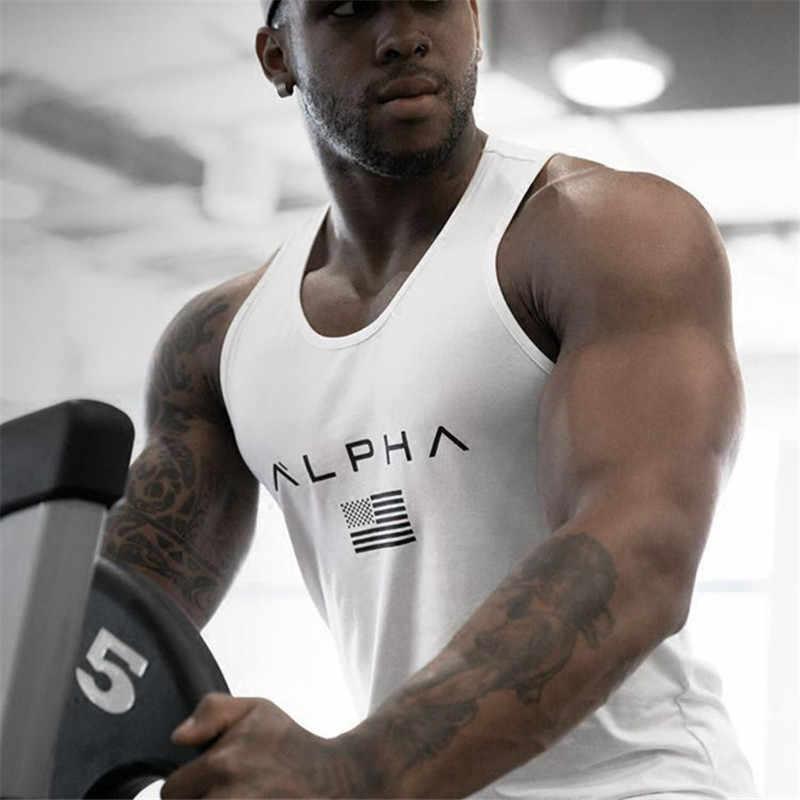بلا أكمام رياضة T قميص الرجال تشغيل قميص الصيف سترة القطن تنفس قميص رجالي بدون أكمام أعلى تجريب الجمنازيوم اللياقة البدنية تي شيرت قميص رياضي
