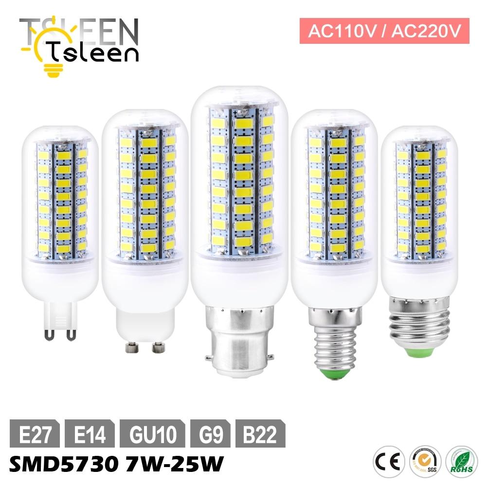 Sale 110V 220V E27 LED Lamp 72 69 56 LEDs Festival LED Corn Bulb 5730SMD LED Lights B22 GU10 GU9 E14 Warm White 25w 20w 15w e27 25w ac220v 240v 98pcs 5730smd warm white led corn light