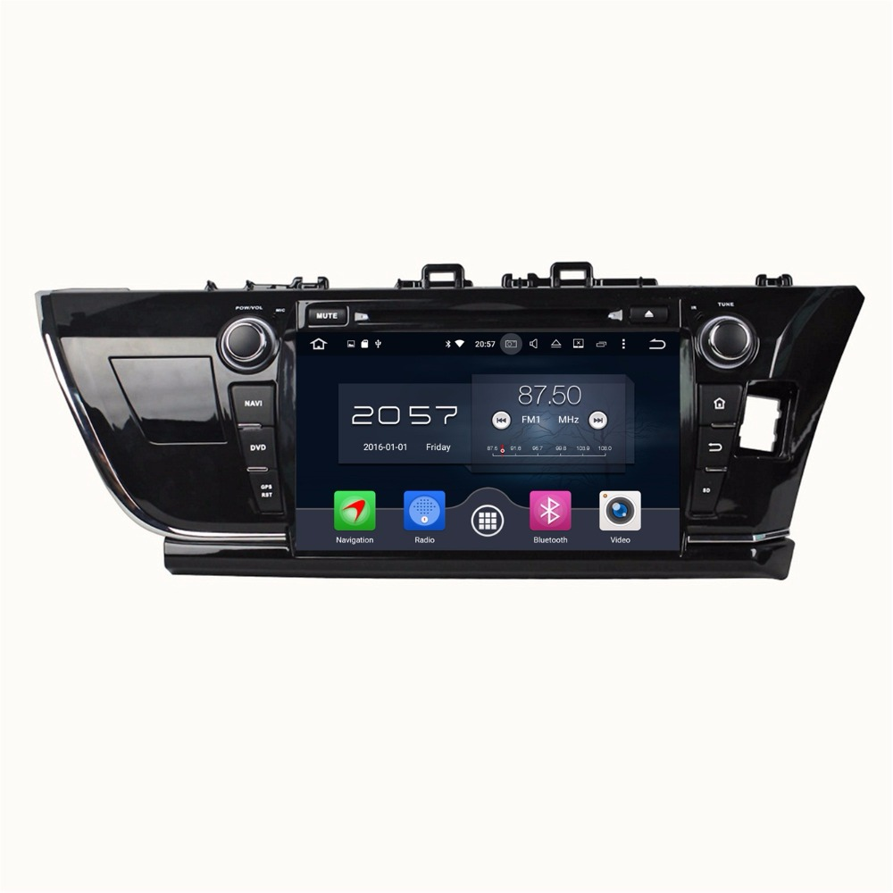 4GB RAM Octa Core 9 Android 6.0 Car Audio DVD Player for Toyota Corolla Right 2014 2015 With Radio GPS 4G WIFI Bluetooth USB
