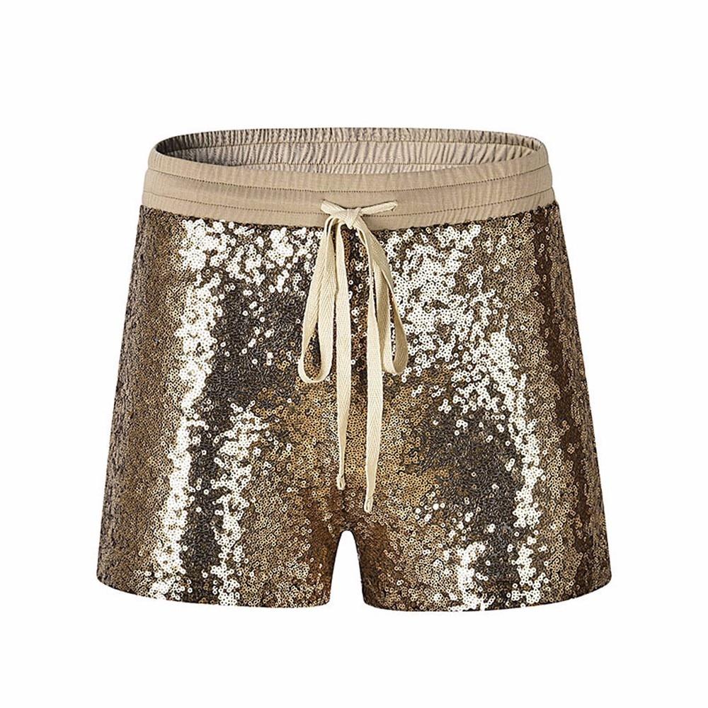 Shorts Women Ladies Sequins Shorts Sexy & Club Pocket Korean Style Women Short Femme Hot Short Mujer Pantalones Cortos Mujer