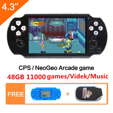 64Bit Handheld Game Console 4.3'' Video Game Console Built-in 650 for CPS/NEOGEO/GBA/SNES/NES/SMD/SMS/GG Games Mp5 Player 64bit game command
