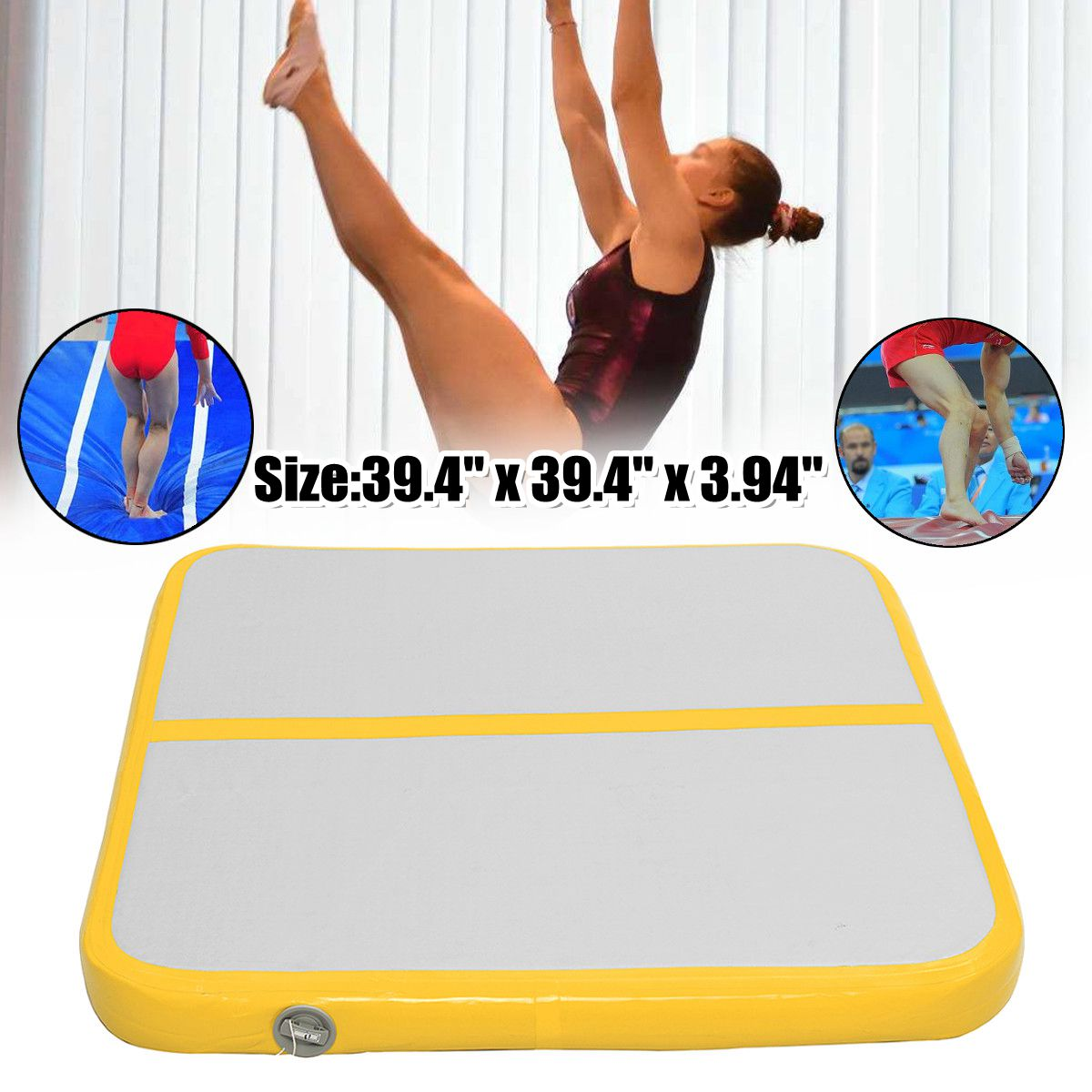100*100*10m Air Track Floor Home Inflatable Gymnastics Tumbling Mat GYM for Kids 100