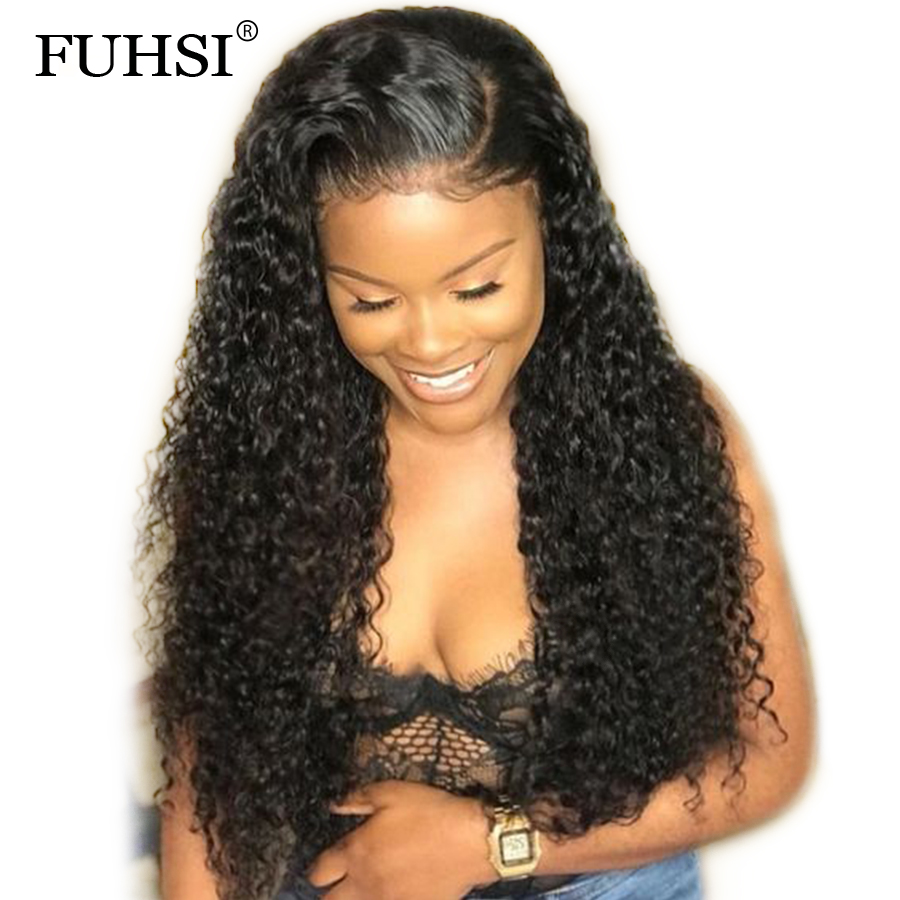 180 250 Density 360 Lace Frontal Wigs For Black Women Curly Brazilian Remy Hair Lace Wig
