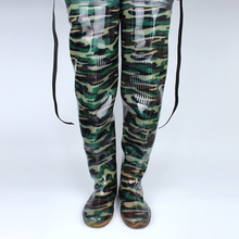 Digital Camouflage Fishing Boots Integrated Seamless Combination 80cm Height Fishing Boots thickening Soft Boot Fishing A021 недорго, оригинальная цена