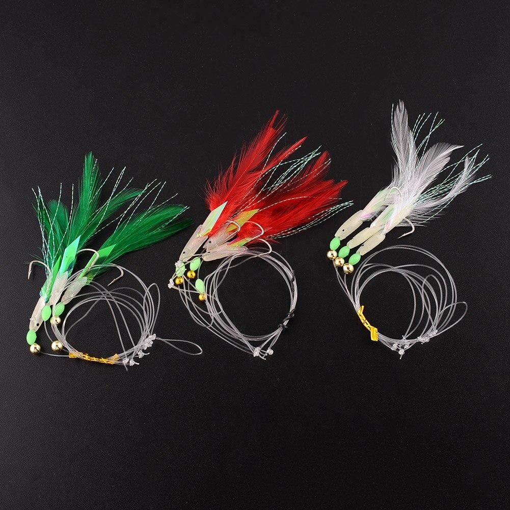 10x hairy backs sabiki rigs no1 flathead rig feathered for Sabiki rig fishing