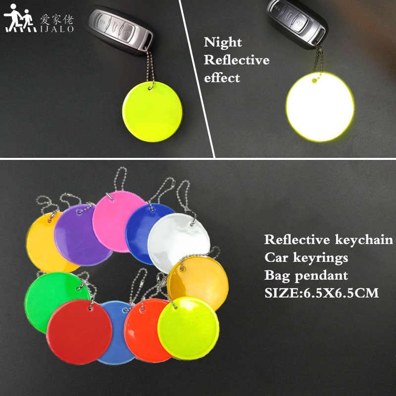 11 cores personalizado logotipo macio pvc reflexivo chaveiros charme saco pingente acessórios chaveiros reflexivos para uso de segurança rodoviária