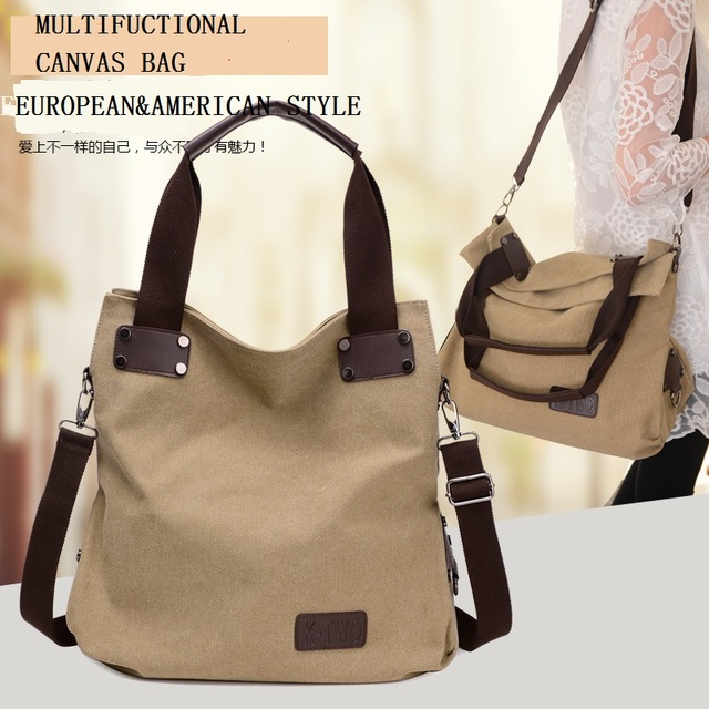 2016 New Simple Casual Canvas handbags College shoulder bags men and women Messenger  bag 837 708a398852c6d