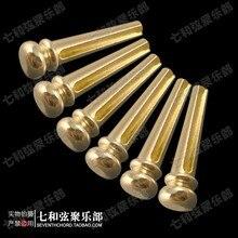 Gold-platte reinem kupfer folk-gitarre solide saite kegel/holz gitarre metall string nagel/gedrückt string nagel/solide saite spalte nagel