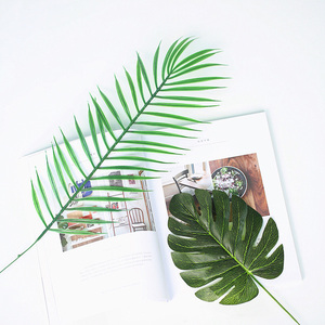 Image 2 - Various Simulated Leaves Plant Gold Green Leaf INS Photography Props Accessories For Home Office Photo Studio DIY Decoration