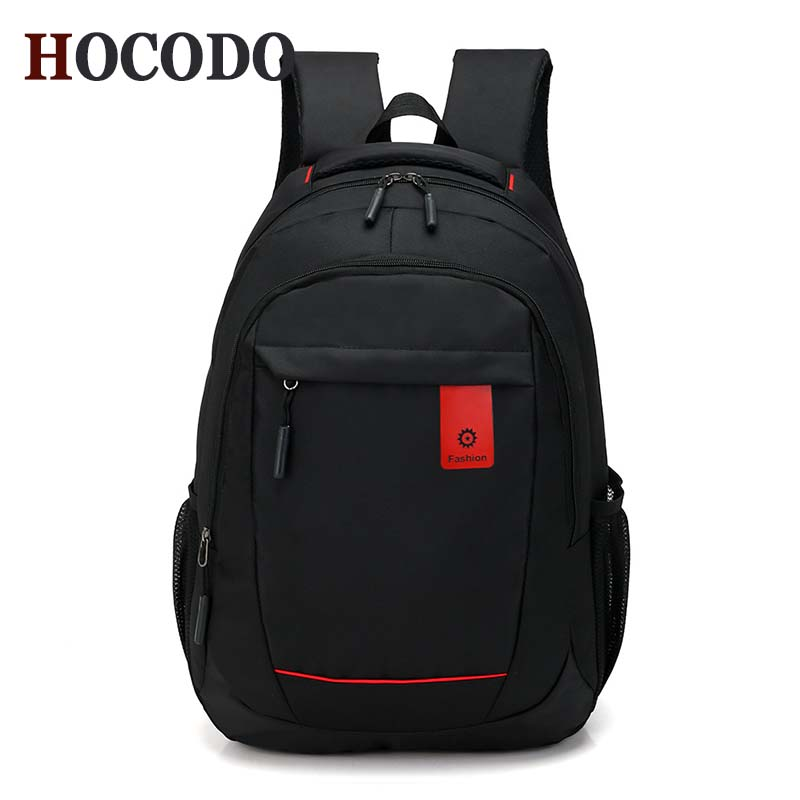 Hocodo Fashion Unisex Backpack Men Business Computer Packsack Men 18/21 Student Satchel Leisure 50l Travel Backpack Black