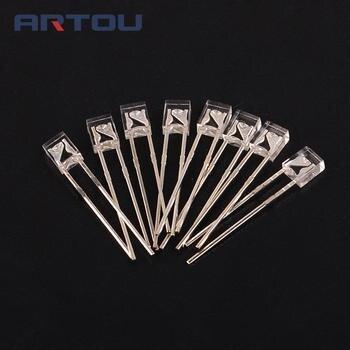 100 sztuk LED z płaskim 2*3*4 czerwony Superbright LED dioda elektroluminescencyjna lampa 2X3X4