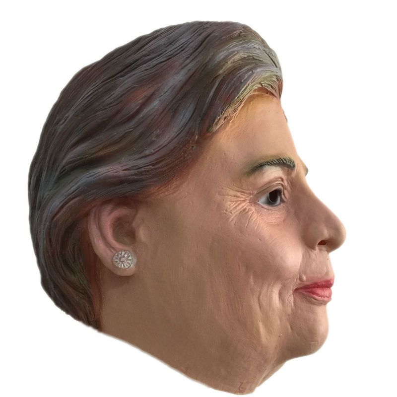 2016 US Election Hillary Latex Mask Famous Celebrity Natural Hillary Clinton Masquerade Realistic Rubber Masks Campaign Party