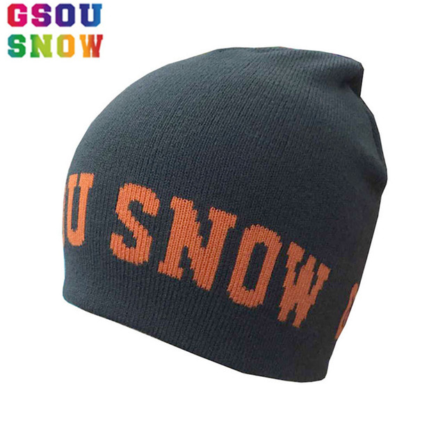 7ec3937a Gsou Snow Winter Adults Ski Hats Cotton Warmth Thicken Caps For Men Women  Outdoor Monutaineering Hiking
