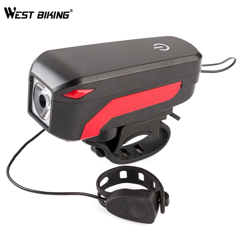 WEST BIKING Bicycle Cycling 140 dB Horn Light Waterproof Touch Bike Horn Lamps USB Charging Front Handlebar Horn Warning Lights туфли nine west nwomaja 2015 1590