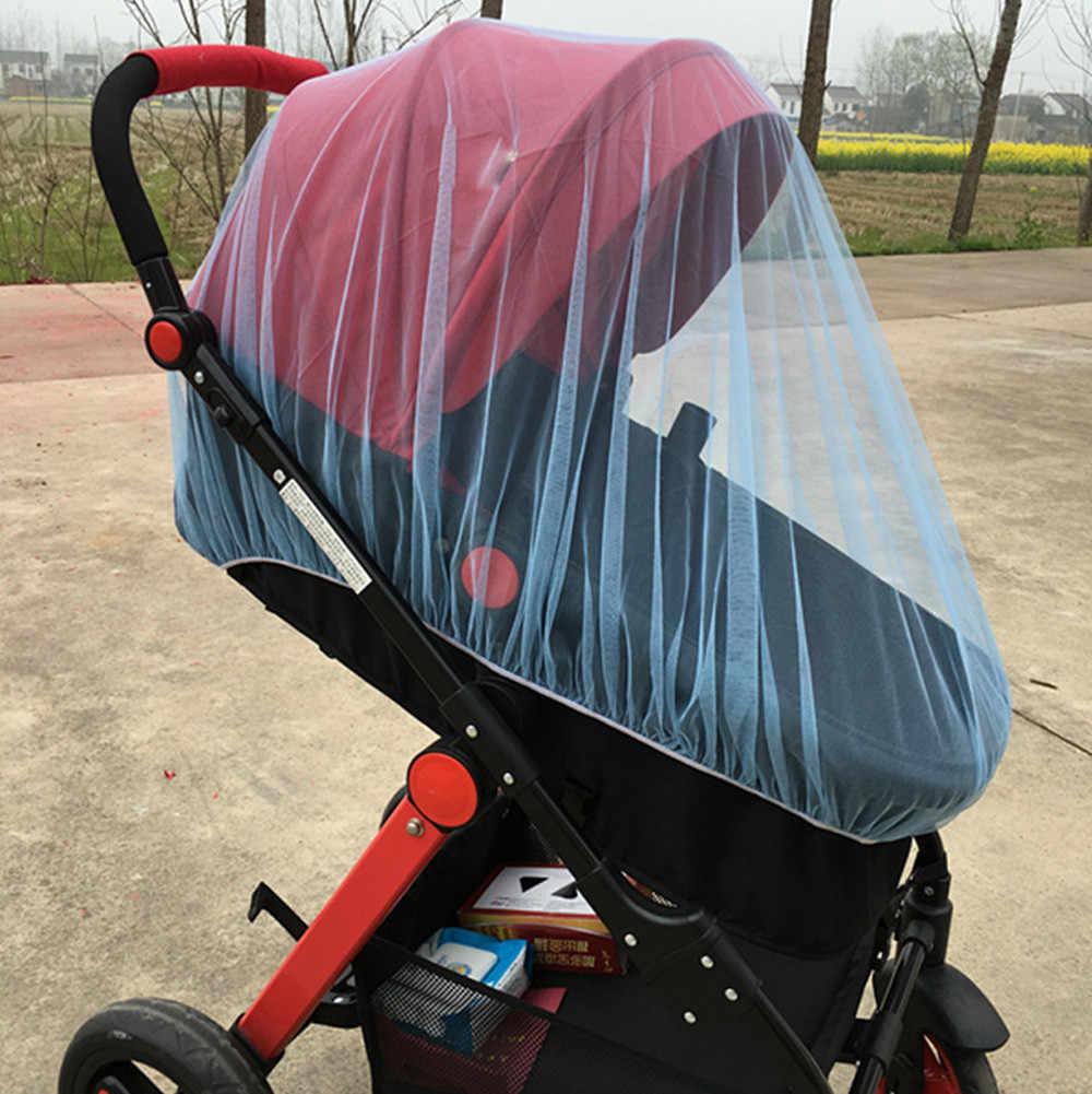 Bébé poussette moustiquaire couverture complète insecte chariot enfant pliable enfants filet moustiquaire été literie Protection maille berceau