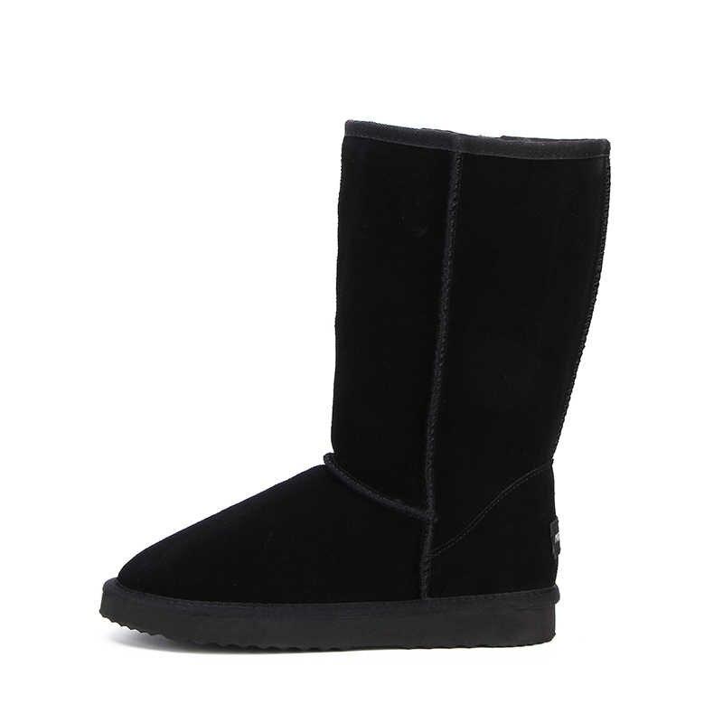 ה-MBR כוח באיכות גבוהה שלג מגפי נשים אופנה עור אמיתי אוסטרליה קלאסי נשים של גבוהה אתחול חורף נשים שלג נעליים