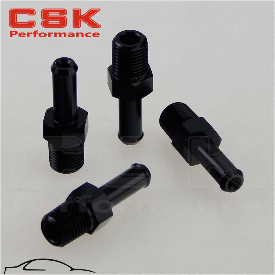 An8 8an an 8 45 degree reusable swivel ptfe hose end - 4pcs Aluminum 3 8 Npt Male Straight To 1 2 Hose Barb