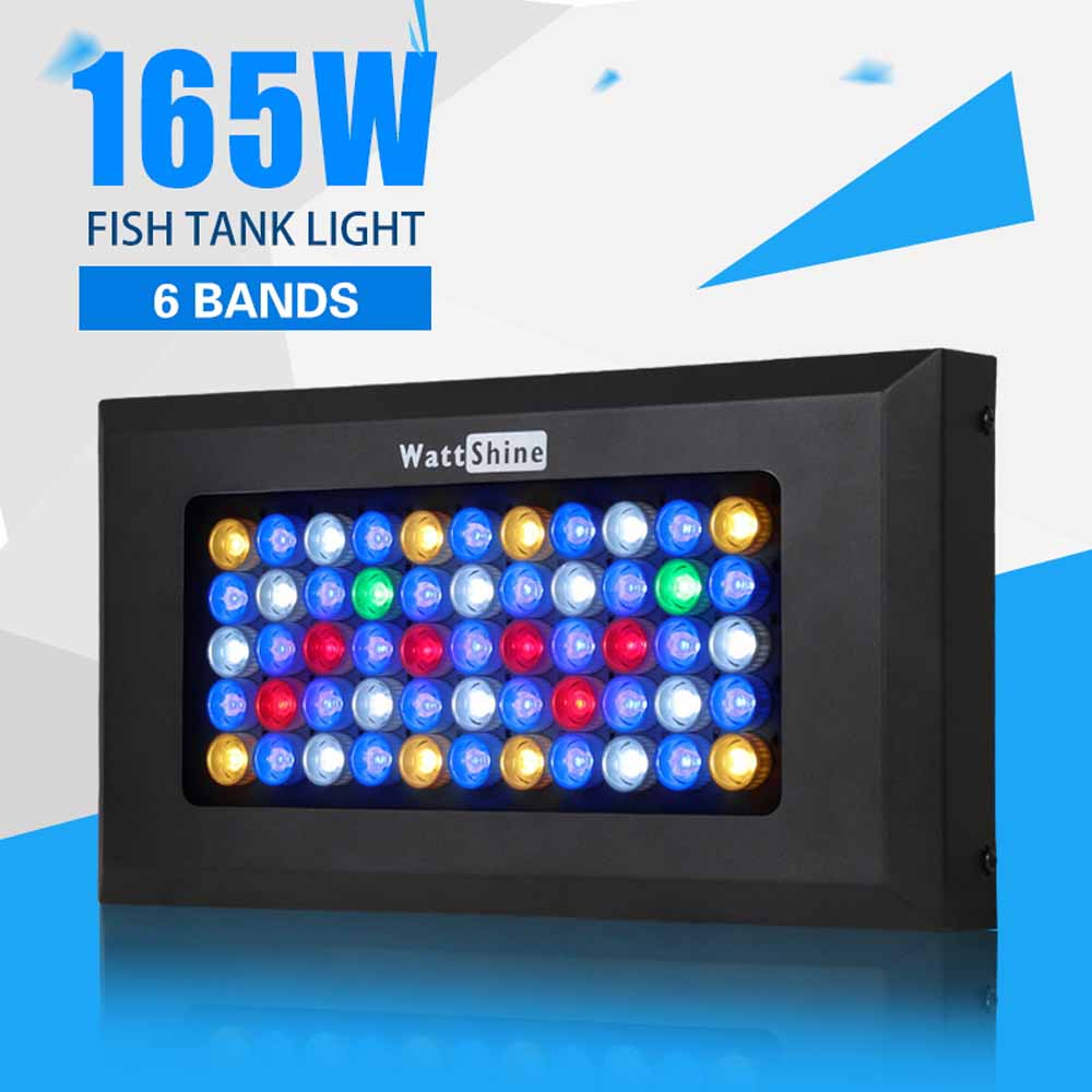 Best Seller!! Dimmable 165w LED Aquarium Light 6 bands spectrum LED Coral Reef Aquarium Lighting Lamp Offer Drop Shipping