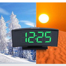 Multifunctional 3 In 1 Digital Clock Thermometer Calendar LED Large Screen Electronic Table Clock Mute Mirror Alarm Clock(China)