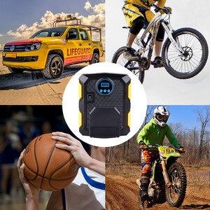 Image 5 - Pneu de carro inflator digital compressor de ar portátil 12v bomba pneu elétrico inflação para carro motocicleta