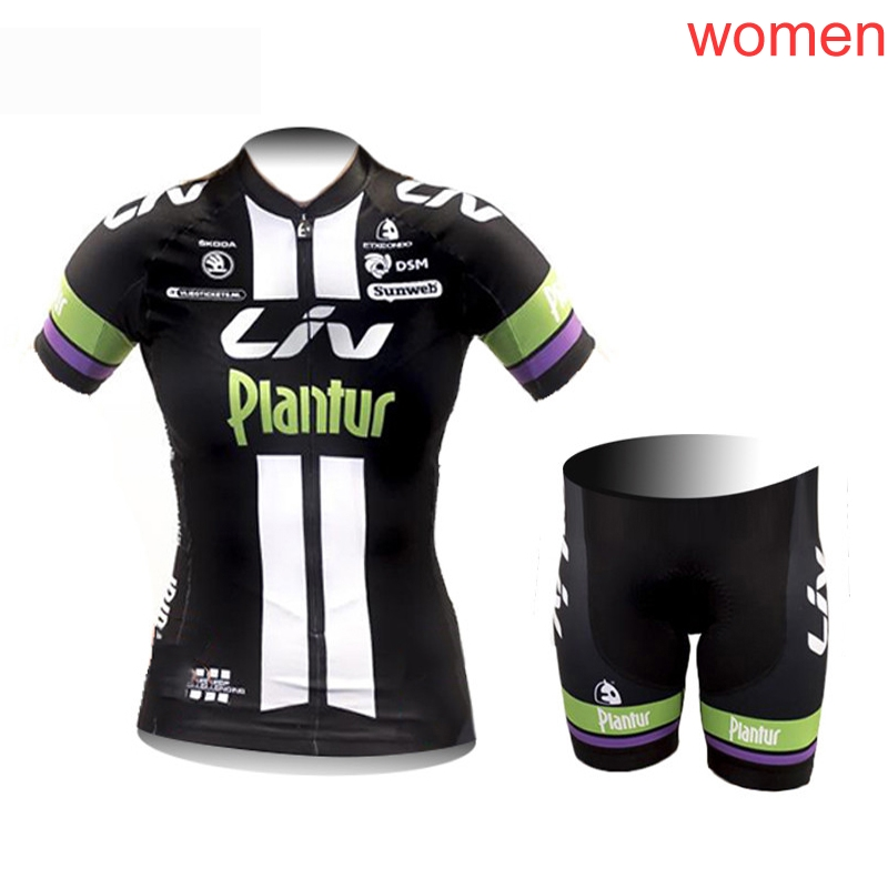 Liv summer women pro team Cycling Short Sleeves jersey bib shorts sets bike clothes sports cycling clothing Breathable Quick dry|Cycling Sets| |  - title=