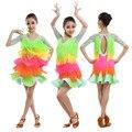 New Adult girls Latin dance costume senior lace long sleeves latin dance dress for women/child latin dance  dresses S-4XL