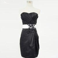 Lzf008 Милая белый и Платье черного цвета Вечерние платья с кристаллами Праздничное платье