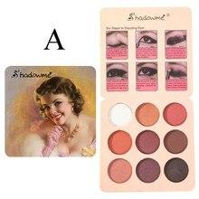 9 colores de sombra de ojos restaurar antiguas formas maquillaje sombra de ojos Vintage elegante maquillaje sombra de ojos тени для век X #2