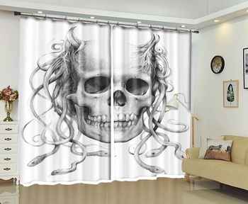 Halloween Printing 3D High-precision Shade Curtains For Halloween Day Blackout Living Room or hotel Drapes Cortians Curtain