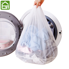 3 Pieces Lot White Mesh Laundry Bags Travel Delicates Clothing Drawstring Washing Bag for Underwear Lingerie Socks and Clothes