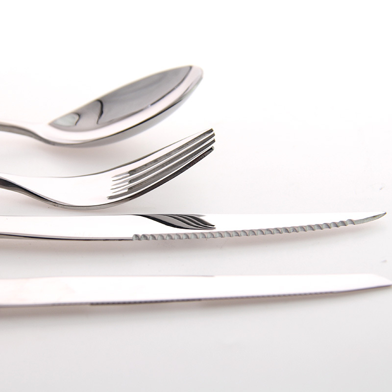 3 Pieces Western Stainless Steel font b Knife b font And Fork Spoon Upscale Tableware Sets