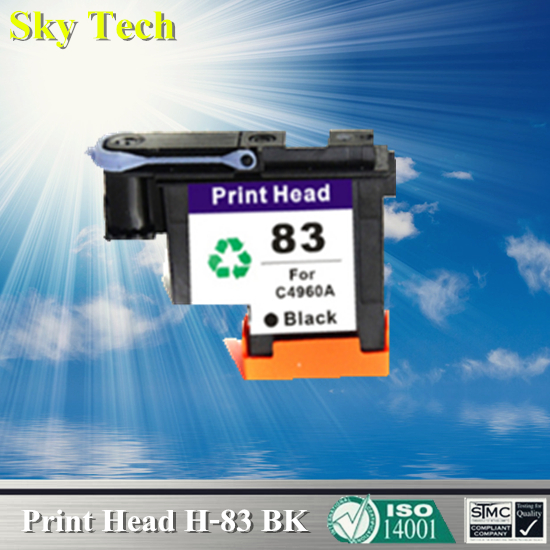 1 BLACK Ink cartridge Head For HP 83 Printhead C4960A Remanufactured head For Hp DesignJet 5000