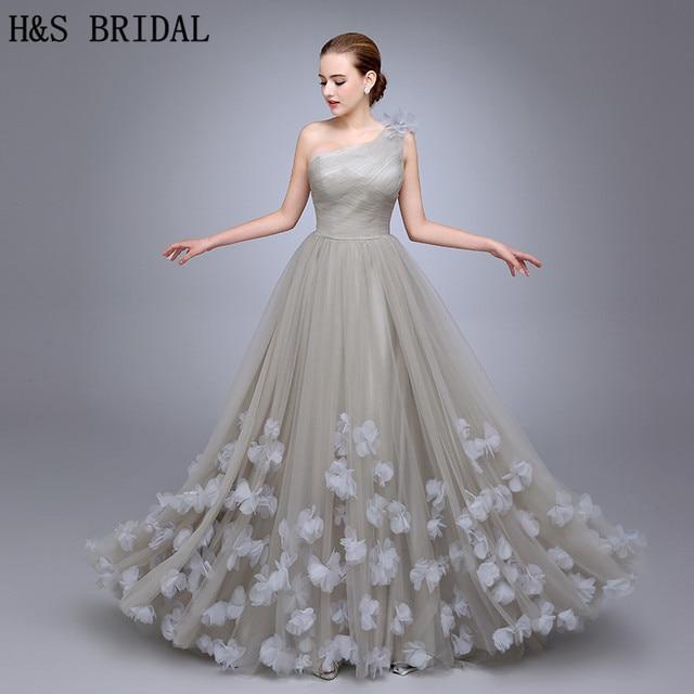 7dccef72228e HS11 One Shoulder Evening Gown Ladies Evening Dress 2019 Floral A Line Evening  Party Flowers Prom