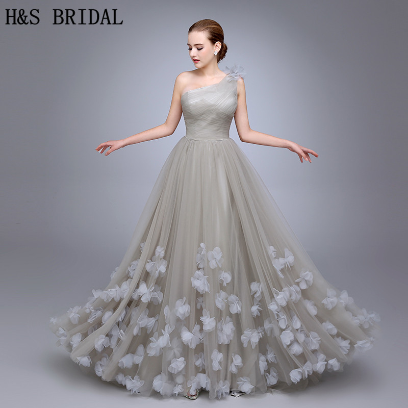 HS11 One Shoulder   Evening   Gown Ladies   Evening     Dress   2019 Floral A Line   Evening   Party Flowers Prom   Dresses   vestidos de fiesta