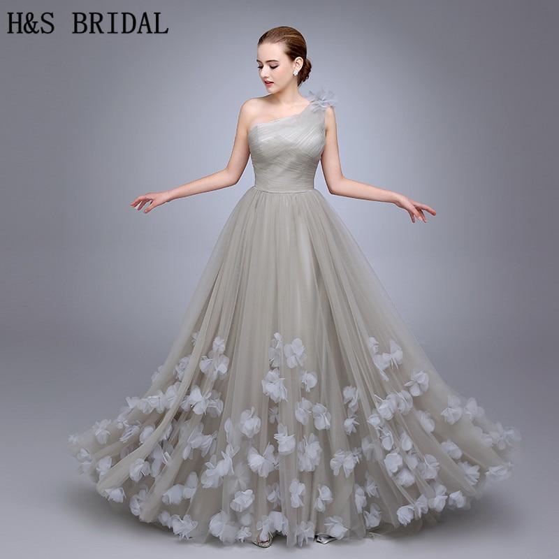 HS11 One Shoulder   Evening   Gown Ladies   Evening     Dress   2019 Floral A Line   Evening   Party Flowers Prom   Dresses   vestidos de fiesta
