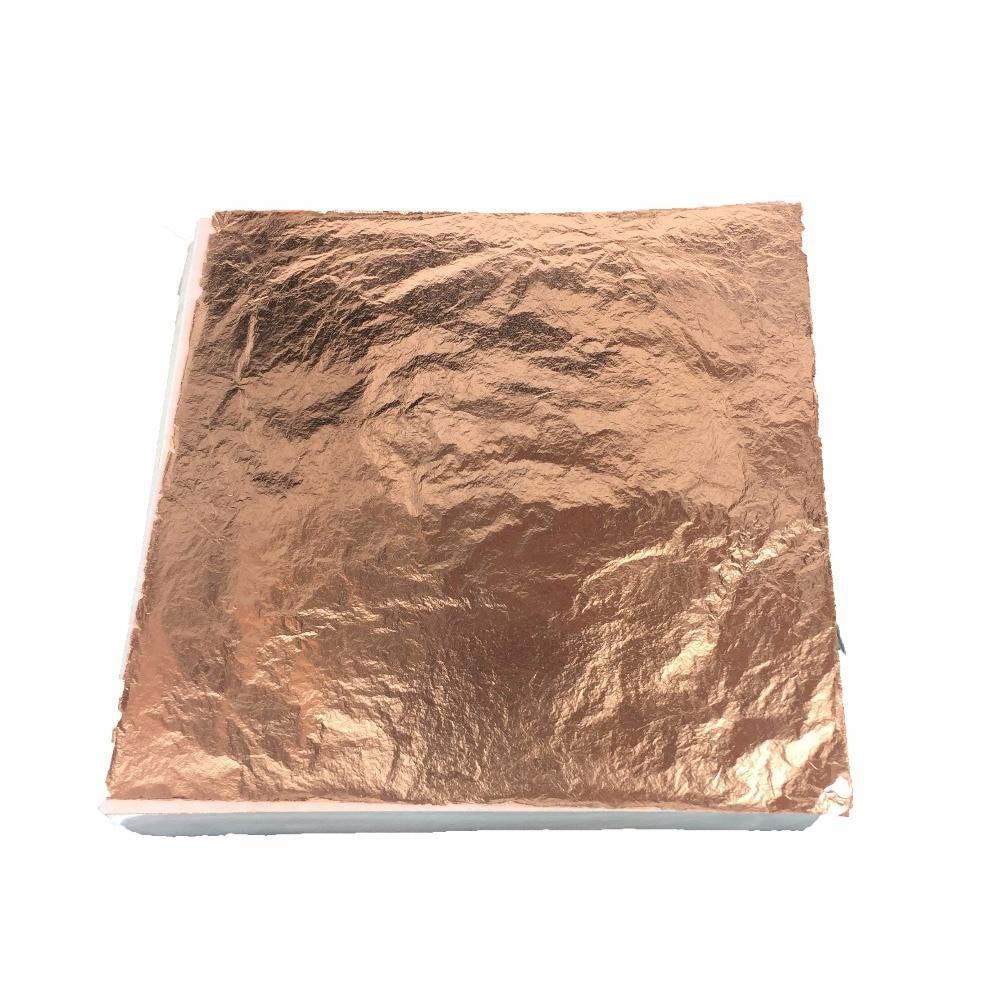 1000 sheets Imitation gold leaf foil genuine copper leaf foil red copper leaf Luxurious
