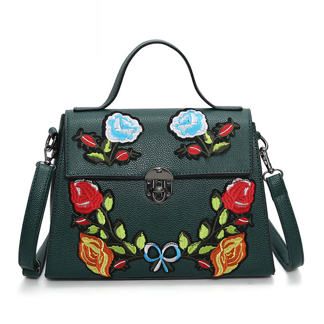 e3e3f06f373 Luxury Handbags Women Bags Leather Designer 2018 Women Crossbody Shoulder  Messenger Bags Embroidered Bag Women -in Shoulder Bags from Luggage & Bags  ...