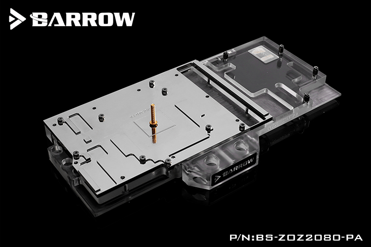 BARROW Water Block use for ZOTAC RTX 2080 2070 8GD6 AMP PGF Extreme OC12 OC8 Support Original Backplate 5V 3PIN Header RGB in Fans Cooling from Computer Office