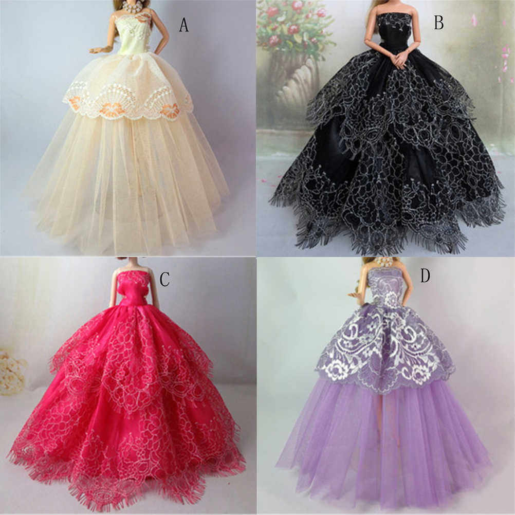 a5f06975ea002 One Piece Party Gown Princess Wedding Dress For Doll Girls' Gift Baby Toys  Cute Outfit Clothes