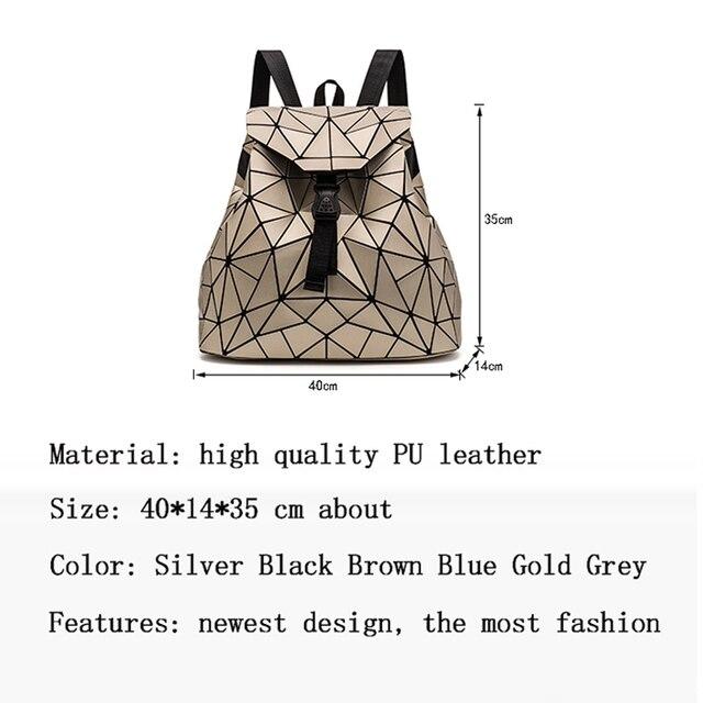 Geometric Bags Women Fashion Backpacks Girls Backpacks Fashion Folding Teenagers Student School Bags Backpacks Crossbody Bags 1