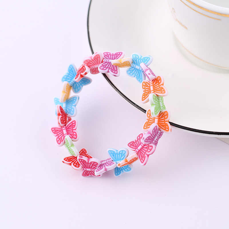 Kids Children Cute Candy Colorful Cartoon Acrylic Butterfly Beads Bracelet for Girl Birthday Party Jewelry Gift Wholesale