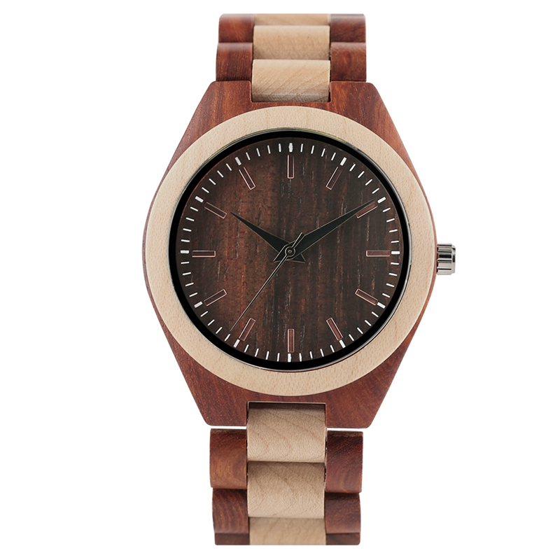YISUYA Men's Ebony Wooden Watch Wood Strap Quartz Analog Creative Wristwatch Simple Nature Bamboo Male Watches Clock saat (27)