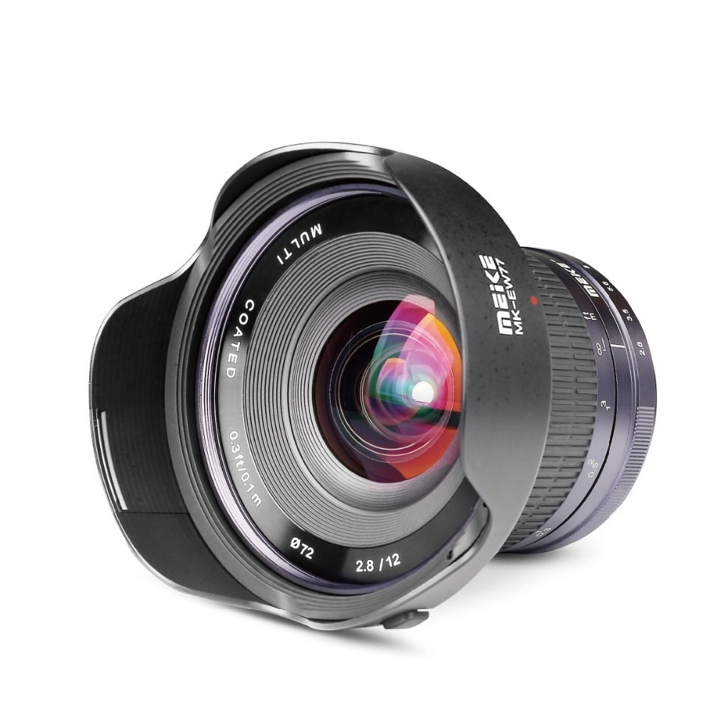 Meike 12mm f/2.8 Ultra Wide Angle Fixed APS-C Lens with Removeable Hood for Fujifilm X Mount Mirrorless APS-C Camera X-Pro2 X-E3 meike 12mm f 2 8 wide angle fixed lens with removeable hood for panasonic olympus mirrorless camera mft m4 3 mount with aps c