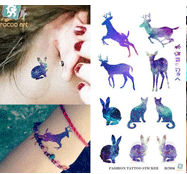 individuality waterproof temporary tattoos for men and women Wolf roar design large arm tattoo sticker Free Shipping SC2908 32