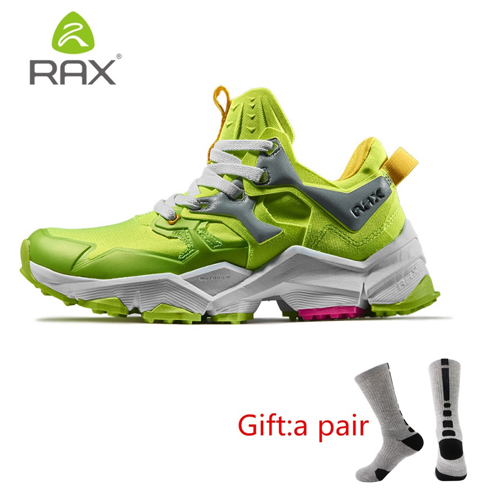 RAX Womens Breathable Future Style Lightweight Hiking Shoes Men Antiskid Cushioning Outdoor Climbing Trekking With gift